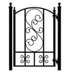 2013 top selling decorative iron gates models for sale