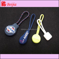 Custom fashion zipper puller with cord custom zipper pulls designer bags zipper sliders