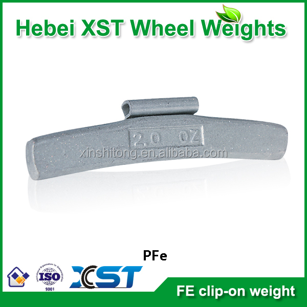 fe material clip on type alloy wheels balance weight