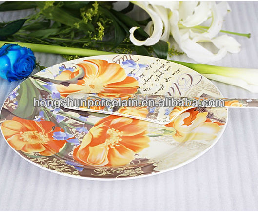 Ceramic antique fruit cake plates