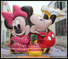 Cheap inflatable mickey mouse castle,mini inflatable jumping for kid,commercial painting cartoon bouncy