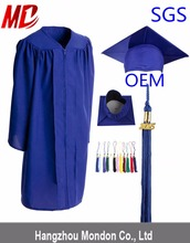 Hot Sales Child Matte Graduation Caps And Gowns For Elementary School-Royal Blue