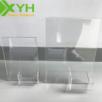 Clear Unique Acrylic Business Card Desktop Holder Menu Sign Display Stand