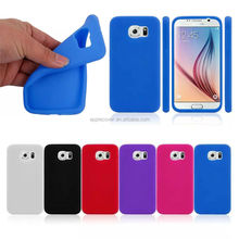 factory price soft plain silicone phone case for Samsung galaxy S6 , for Samsung s6 silicon case