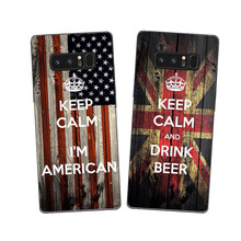 Wood Pattern World National Country American UK USA Flag Cases Silicon Back Cover For Samsung Galaxy Note 8 S8 Plus Custom Case