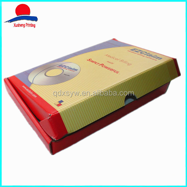 High Quality Foldable Corrugated Carton Box, CD Box Set Packaging