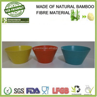Food Serving Round Biodegradable Bamboo Fiber Bowl ,Bamboo Fiber Tableware,Bamboo Dinner Set