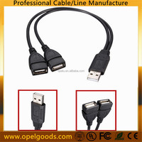 USB 2.0 A Male To 2 Dual USB Female Jack Y Splitter Hub Power Adapter Cable