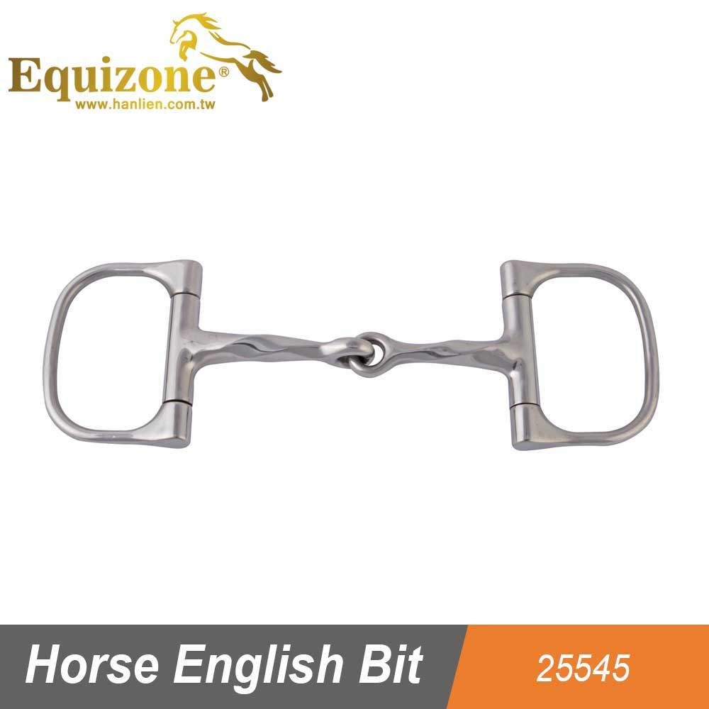 25545 Stainless Steel Racing Dee Horse English Bit