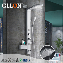 Factory competitive price fashionable shower panel with massage jets