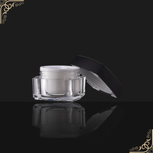 120g round cream jar with golden lid pump cosmetic container