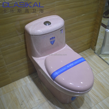Alibaba supplier sanitary ware pink color ceramic one piece toilet