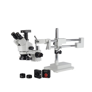 16MP usb Industry Microscope Camera 3.5X-90X Simul-Focal Stereo Microscopio digital Double Boom Stand Trinocular for mobilephone