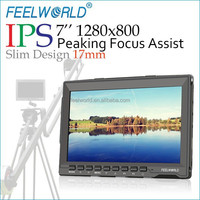 "New Feelworld 7"" Super Slim IPS HDMI AV Input Camera Monitor for Handheld Stabilizer"