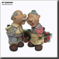 Pretty Polyresin Eldership Home Garden Decoration