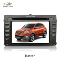 big size full touch 2 din auto radio car dvd gps navigation for ssangyong rexton
