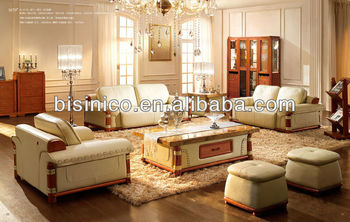 New Classical solid wooden carving luxury sofa set,living room furniture,thick leather sofa