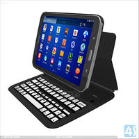8 inch Tablet PC Aluminum Alloy Bluetooth Keyboard Leather Case for Samsung Tab 3 T310 P-SAMT310BTHKB002