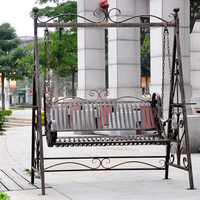 High Quality Outdoor Patio Garden Backyard Deck Coffee Shop Antique Metal Swing