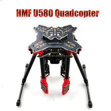 Best HMF U580 Totem Series RC Quadcopter Frame 4 Axle Foldable Rack Carbon Umbrella FPV Landing Gear Gimbal Mount Tube + FS
