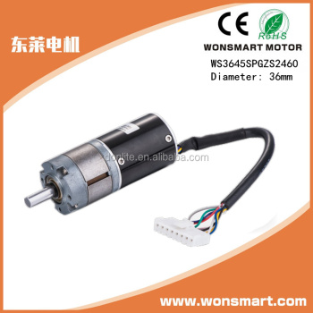 36mm 51 gear ratio dc gear motor low rpm