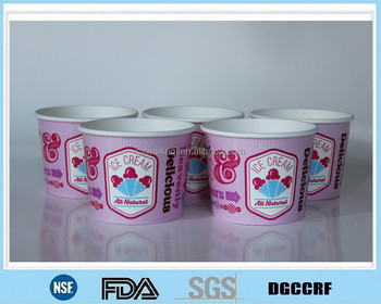 Printing customized Frozen Yogurt Ice Cream Paper Cup Paper Bowls