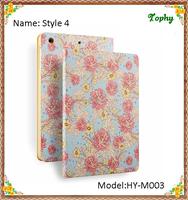 Fashion Garden Flowers Slim Folio Fold Smart Cover Leather Case Tablet Cover For iPad mini 1 2 3 Cases For ipad mini Stand