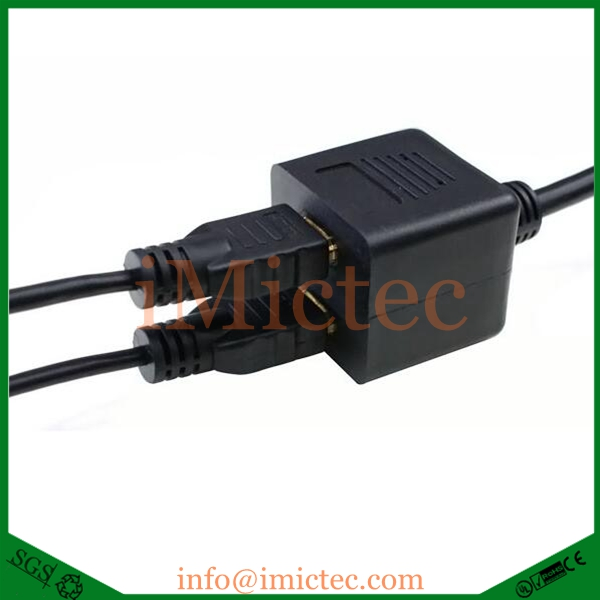 HDM I A Male to double HDM I Female splitter adapter cable