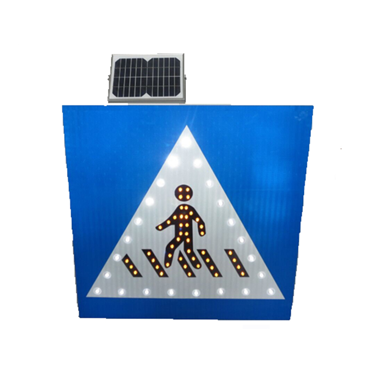 Wholesale solar power raffic sign flashing road signs