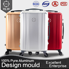 HLW wholesale golden one traveling waterproof vintage suitcase