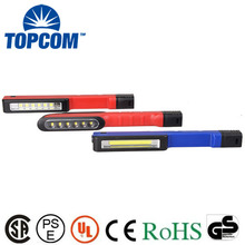 Mini Flat ABS Materials COB LED Flashlight With Magnet