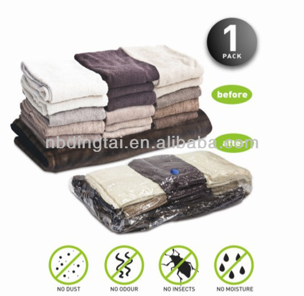PE plastic vacuum storage bag&saving space for clothes
