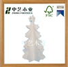 2016 new design mini craft decoration plywood natural wooden christmas tree
