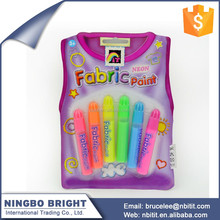 Customized color and the LOGO 3d fabric paint