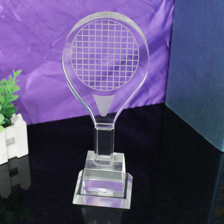cheap Acrylic crystal badminton trophy