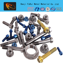 best price Gr2 Titanium bolt and nut for industry use