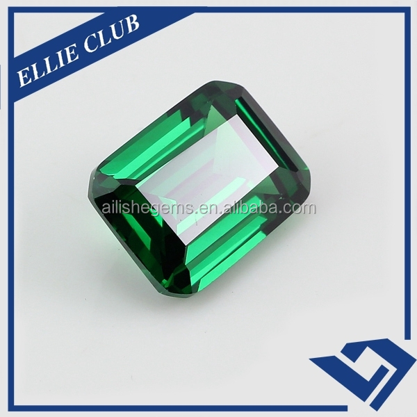 Competitive prices emerald octangle shape synthetic green spinel gems
