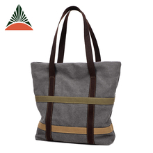 Fashion Daily Use Canvas Beach Handbag Women Tote Bag For Ladies
