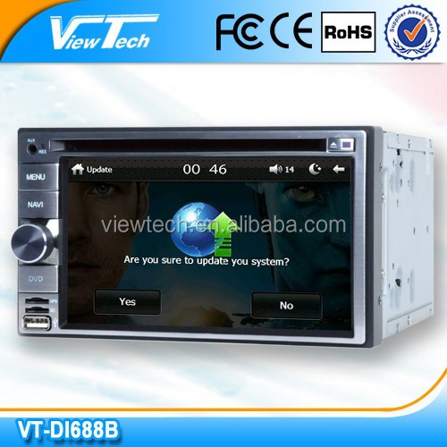 2015 best selling 6.2'' touch screen car dvd player with fm transmitter