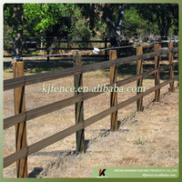 Wood post and rail fence