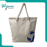 Natural recycled wholesale fabric drawstring plain white cotton canvas tote bag