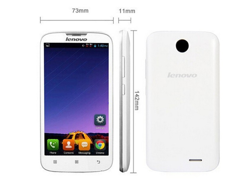 Cheapest Lenovo Mobile Phone Lenovo A560 Quad Core 5 Inch Screen MSM8212 Quad Core Android 4.3 3G WCDMA Dual Sim GPS