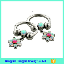 Unique Design Slave Nipple Ring Circular Barbell Ring Elegant Piercing Body Jewelry
