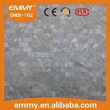 Brick pure white river mother of pearl shell mosaic tile for house decorative