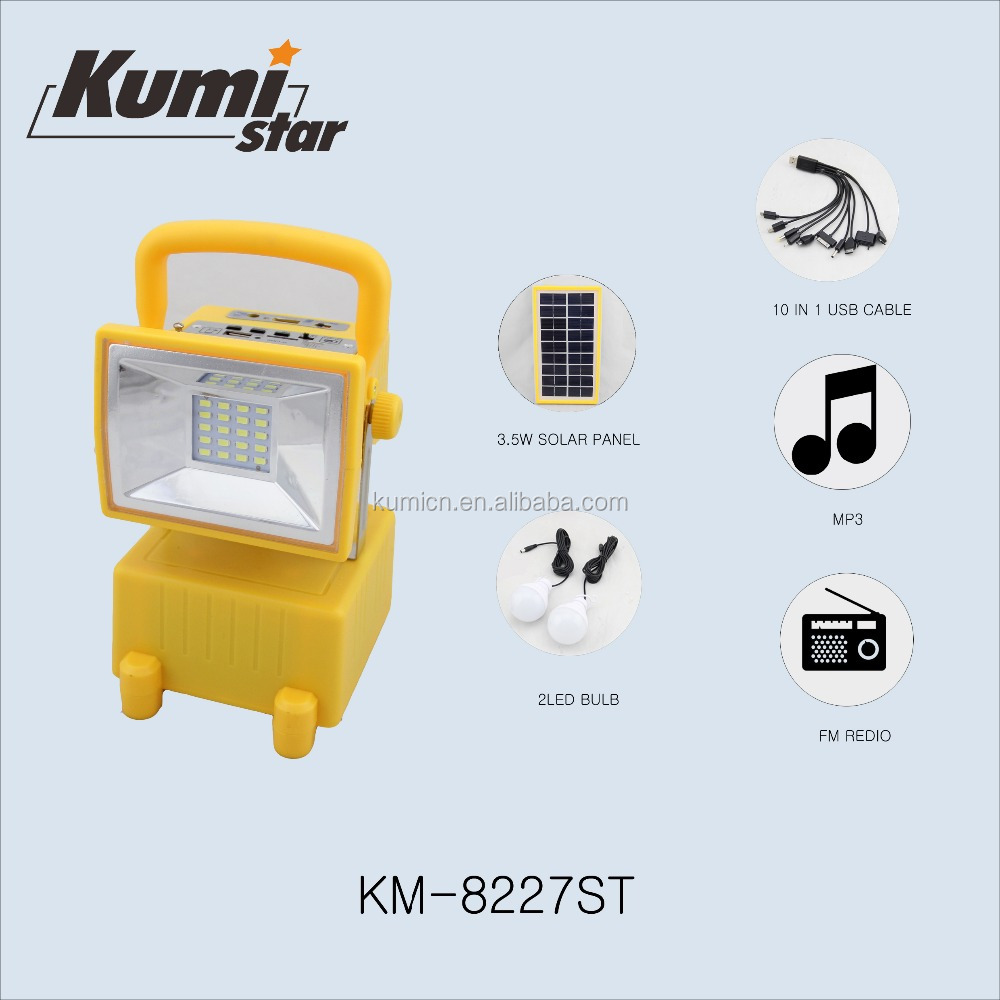 solar lamp, cell phone charge, Mp3, FM radio solar energy system emergency lamp