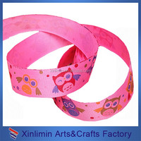 The most popular 100% polyester cartoon printed ribbon for gift packing