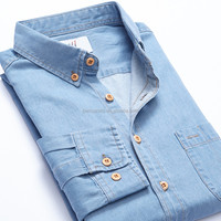 Cowboy Shirt Denim Shirt Men