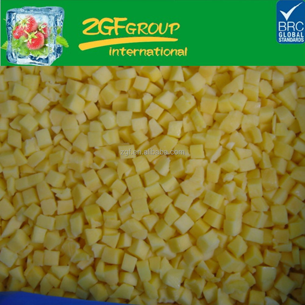 IQF Delicious Frozen fruit frozen mango dice in good quality in bulk