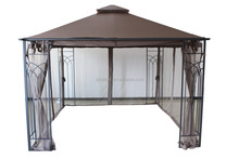 STEEL FRAMED LUXURY GAZEBO SAND CANOPY 3m x 3m Includes mosquito net side curtains