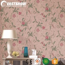 Korean Style Vinyl Wallpaper with Deep Embossed Flowers (380g/sqm 53CM*10M)